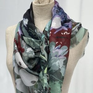 purple silk scarf charmed